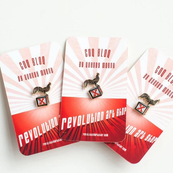 Revolution Art Shop Coq Bloq Enamel Pin Enamel Pin 2 Pins