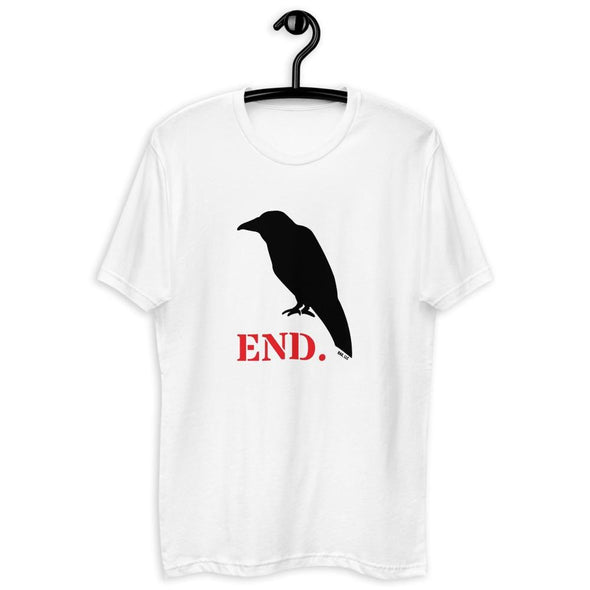 Revolution Art Shop Crow END. Mens Fitted Tee White / XS
