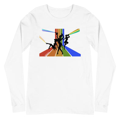 Revolution Art Shop Diva Space Lasers Unisex Long Sleeve Tee Long Sleeve Tee White / XS