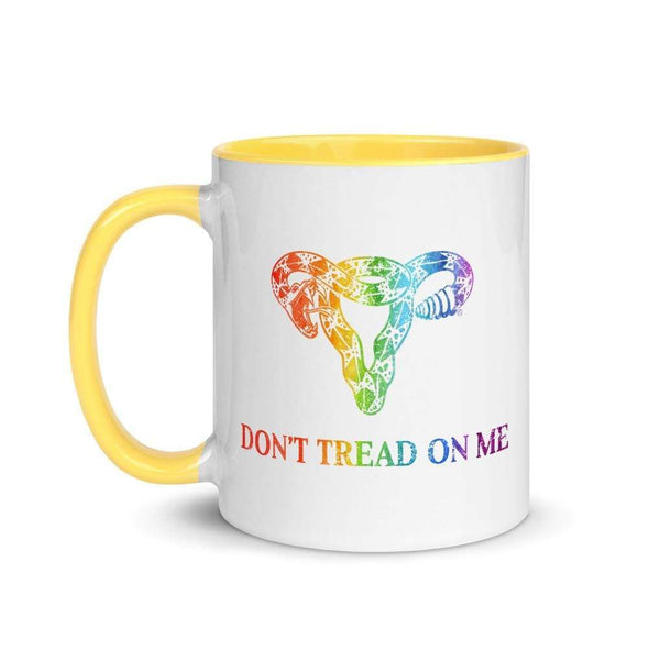 Revolution Art Shop Don't Tread On Me Rainbow Uterus Mug Mug