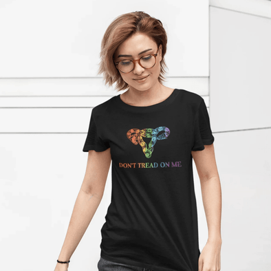 Revolution Art Shop Don't Tread On ME Uterus Rainbow Women's Tee Women's Tee Black / S