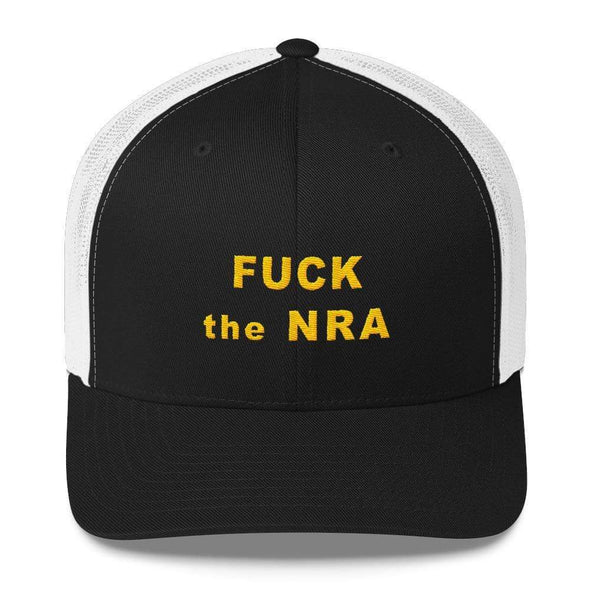 Revolution Art Shop F*ck The NRA Retro Trucker Cap - VPC Trucker Cap Black/ White