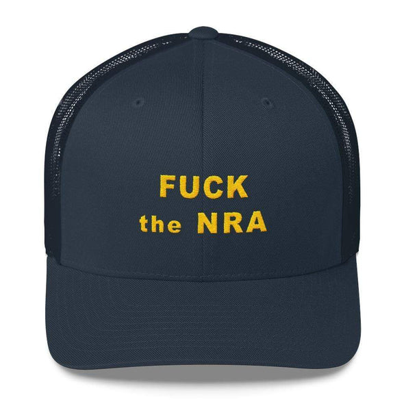 Revolution Art Shop F*ck The NRA Retro Trucker Cap - VPC Trucker Cap Navy