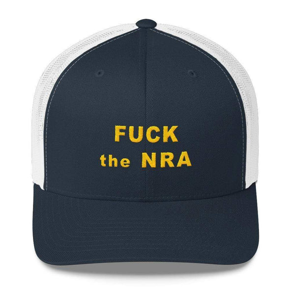 Revolution Art Shop F*ck The NRA Retro Trucker Cap - VPC Trucker Cap Navy/ White