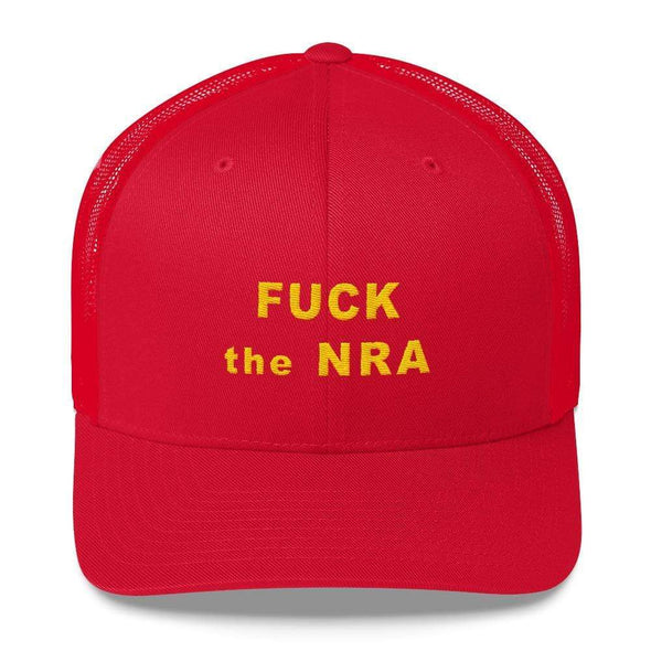 Revolution Art Shop F*ck The NRA Retro Trucker Cap - VPC Trucker Cap Red