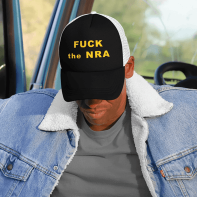 Revolution Art Shop F*ck The NRA Retro Trucker Cap - VPC Trucker Cap