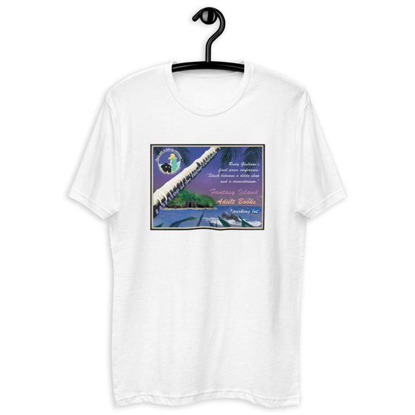 Revolution Art Shop Fantasy Island Vintage Style Postcard | Rudy's Last Stand | Men's Fitted Tee White / XS