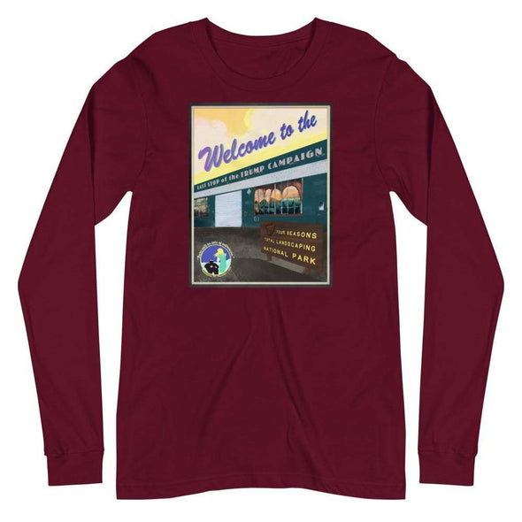 Revolution Art Shop Four Seasons National Park, Rudy's Last Stand | Unisex Long Sleeve Tee Maroon / XS