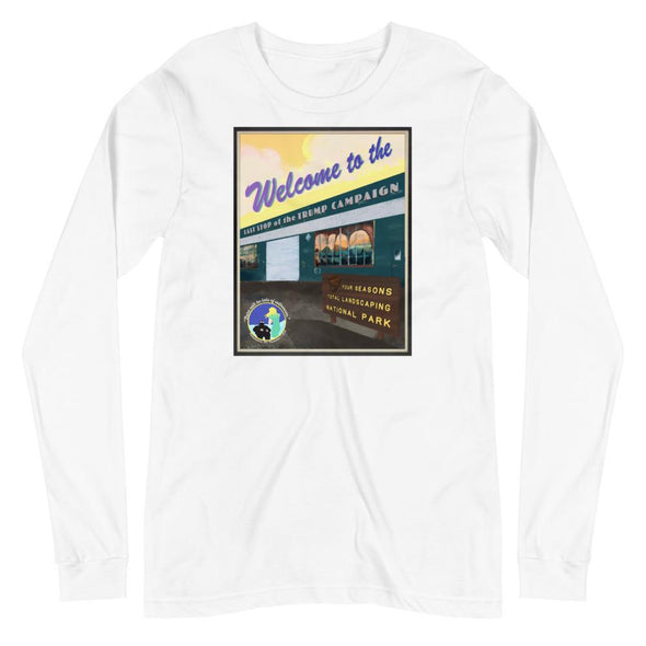Revolution Art Shop Four Seasons National Park, Rudy's Last Stand | Unisex Long Sleeve Tee White / XS