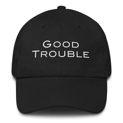 Revolution Art Shop Good Trouble Dad Hat Rep John Lewis Dad Hat Black