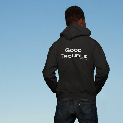 Revolution Art Shop Good Trouble Zip Up Hoodie Zip Hoodie Black / XS
