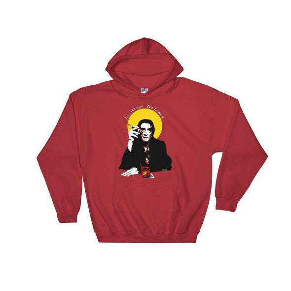 Trash Panda Chic Harry Dean Stanton- All Heart, No Lungs Unisex Hoodie Sweatshirt Hoodie Red / S