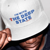 Revolution Art Shop I'm With The Deep State Retro Trucker Cap Trucker Cap White
