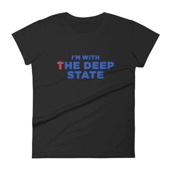 Revolution Art Shop I'm With the Deep State Women's Short Sleeve Tee Women's Tee Black / S