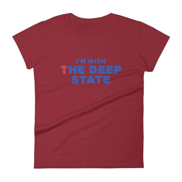 Revolution Art Shop I'm With the Deep State Women's Short Sleeve Tee Women's Tee Independence Red / S
