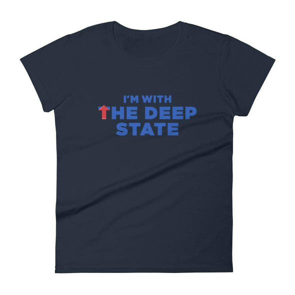 Revolution Art Shop I'm With the Deep State Women's Short Sleeve Tee Women's Tee Navy / S