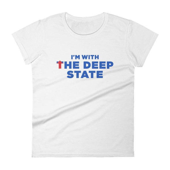 Revolution Art Shop I'm With the Deep State Women's Short Sleeve Tee Women's Tee White / S