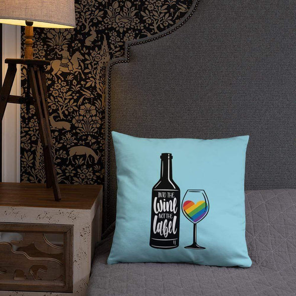 Anne Lesniak Into The Wine, Not The Label Pride Throw Pillow Throw Pillow