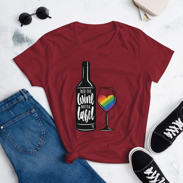 Revolution Art Shop Into The Wine, Not The Label Pride Women's Tee Independence Red / S