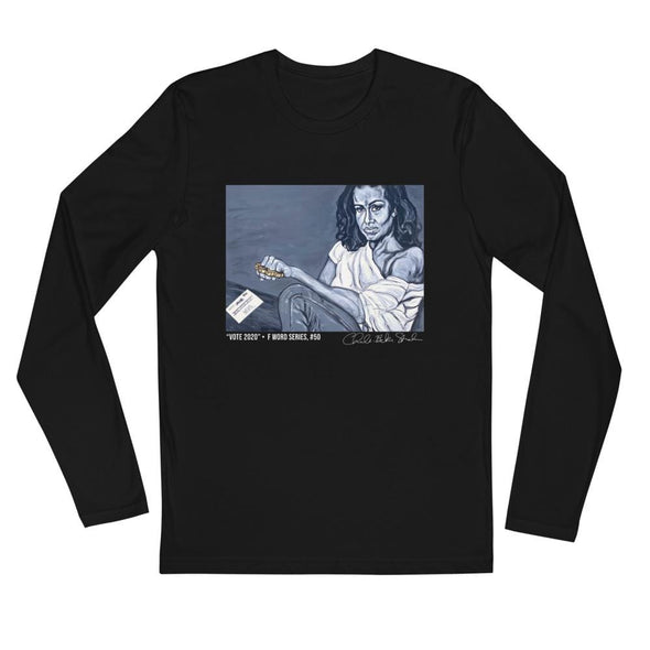Revolution Art Shop Long Sleeve Fitted Crew Black / S