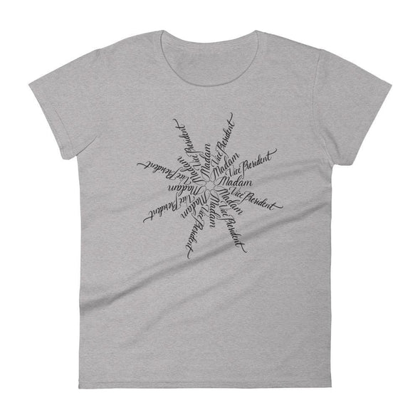 Revolution Art Shop Madam Vice President | The Snowflake Collection | Women's t-shirt Heather Grey / S