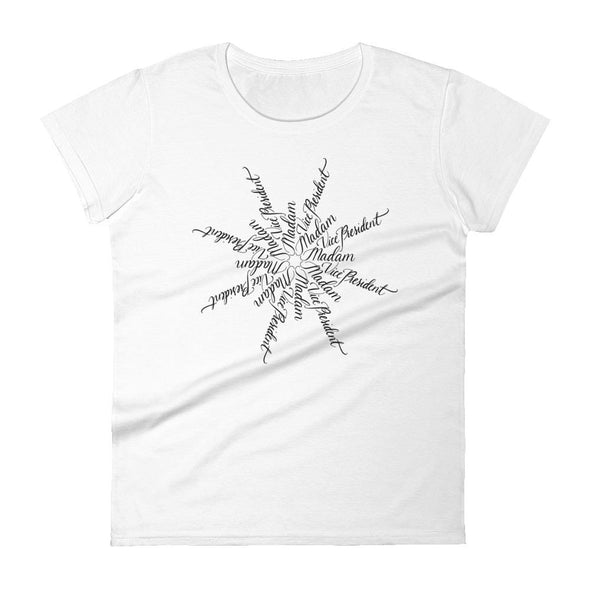 Revolution Art Shop Madam Vice President | The Snowflake Collection | Women's t-shirt White / S