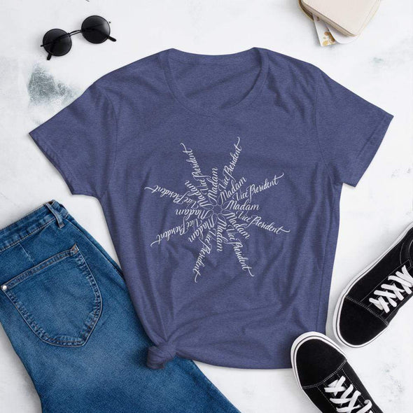 Nicole Bizzarro Madam Vice President | The Snowflake Collection | Women's Tee Women's Tee Heather Blue / S