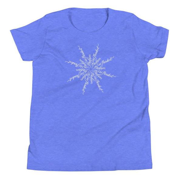 Revolution Art Shop Madam Vice President | The Snowflake Collection | Youth T-Shirt Heather Columbia Blue / S