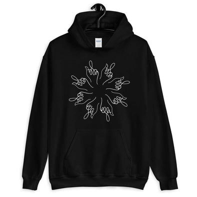 Revolution Art Shop Middle Finger Mandala Unisex Hoodie Black / S