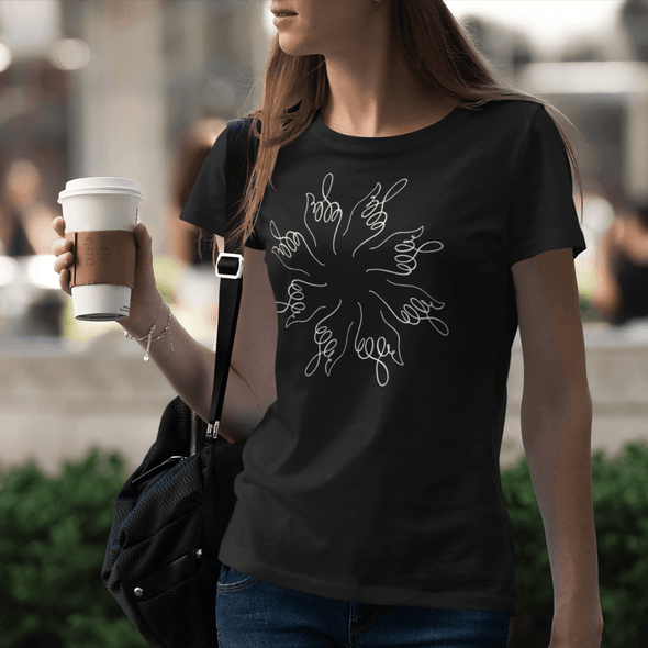 Middle Finger Mandala Om Zen Women's T shirt peace