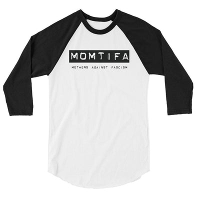 Revolution Art Shop Momtifa – Mothers Against Fascism 3/4 sleeve raglan White/Black / XS