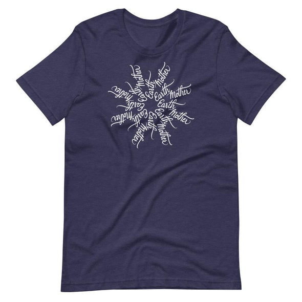 Revolution Art Shop Mother Earth - Earth Mother Mandala Unisex T-Shirt Heather Midnight Navy / XS