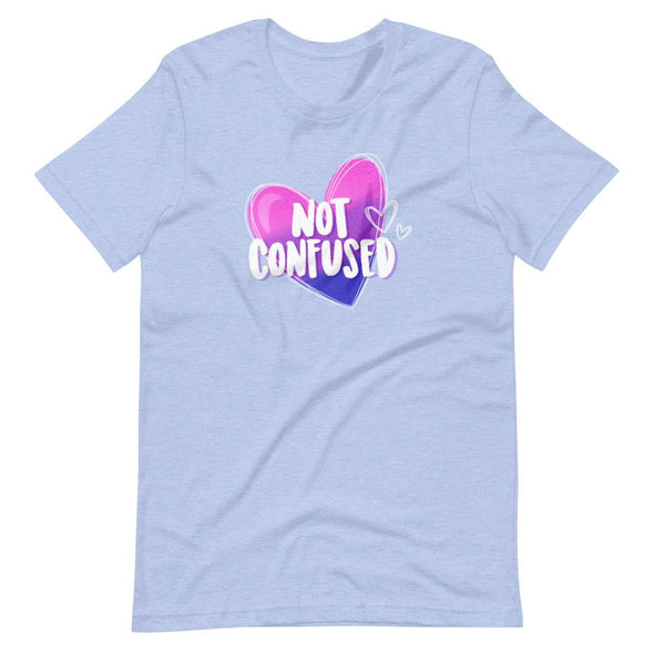 Revolution Art Shop Not Confused Pride Unisex T-Shirt Heather Blue / S