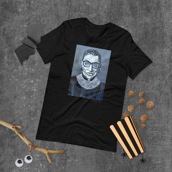 Revolution Art Shop Notorious RBG | The F Word by Charles Baker Strahan Unisex Tee Black Heather / XS