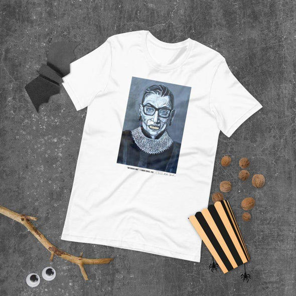 Revolution Art Shop Notorious RBG | The F Word by Charles Baker Strahan Unisex Tee White / XS