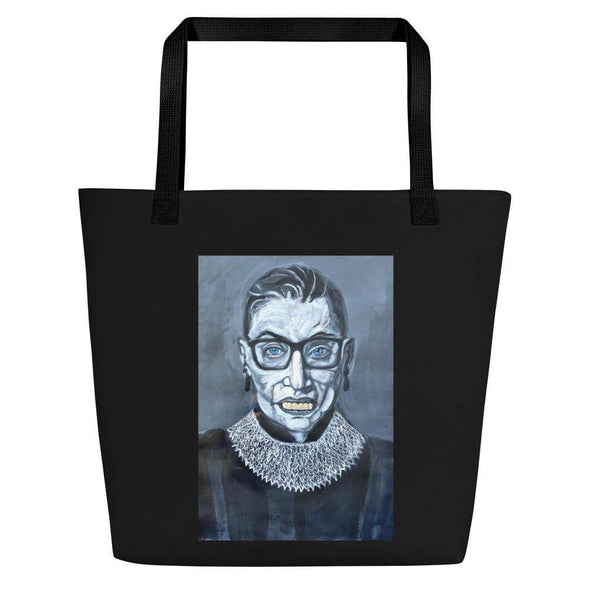 Revolution Art Shop Notorious RBG | The F Word Series by Charles Baker Strahan Beach Tote