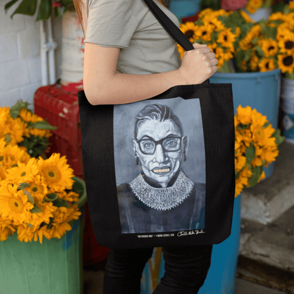 Revolution Art Shop Notorious RBG | The F Word Series by Charles Baker Strahan Beach Tote Tote