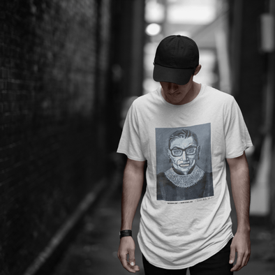 Charles Baker Straham Notorious RBG | The F Word Series by Charles Baker Strahan Fitted Men's Tee Men's Tees