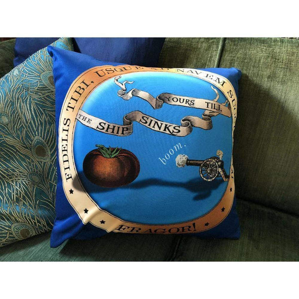 Revolution Art Shop Order of the Baby Cannon Throw Pillow Throw Pillow