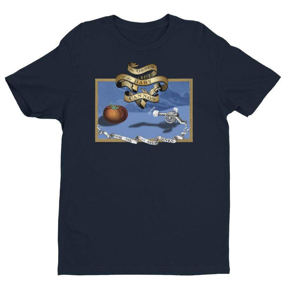Revolution Art Shop Order Of The Baby Cannon Mens Fitted Tee Men's Tees Midnight Navy / XS