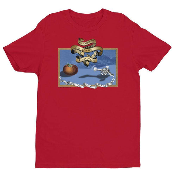 Revolution Art Shop Order Of The Baby Cannon Mens Fitted Tee Men's Tees Red / XS