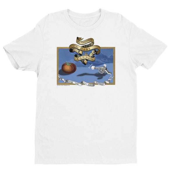 Revolution Art Shop Order Of The Baby Cannon Mens Fitted Tee Men's Tees White / XS