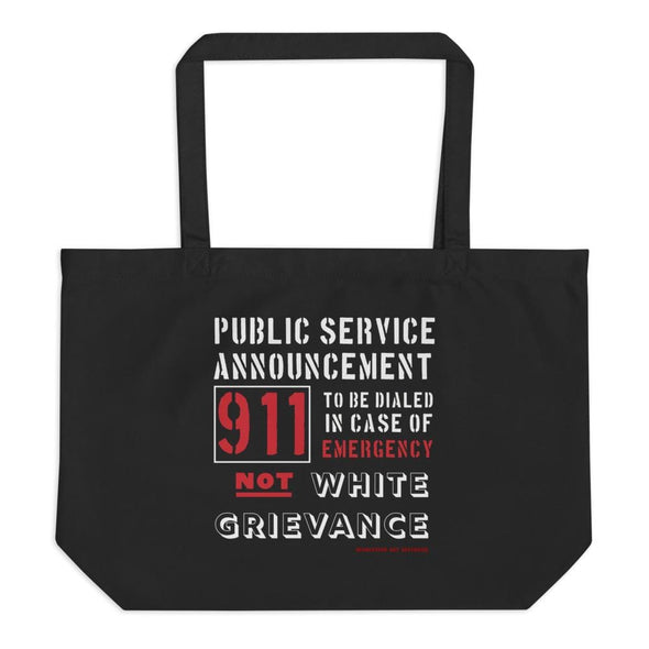 Revolution Art Shop Public Service Announcement organic tote bag Black