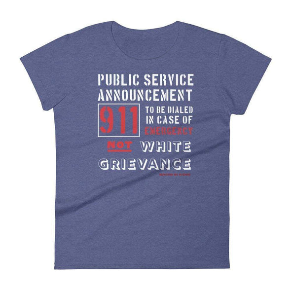 Revolution Art Shop Public Service Announcement Women's Classic Tee Women's Tee Heather Blue / S