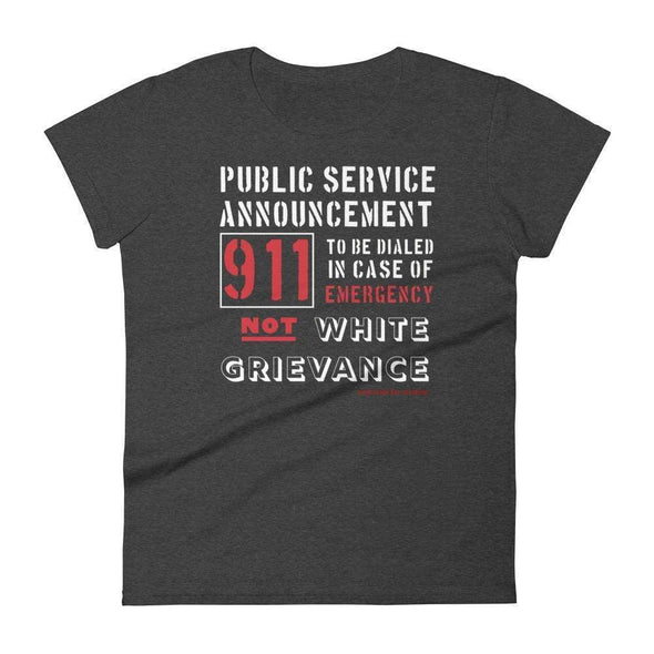 Revolution Art Shop Public Service Announcement Women's Classic Tee Women's Tee Heather Dark Grey / S