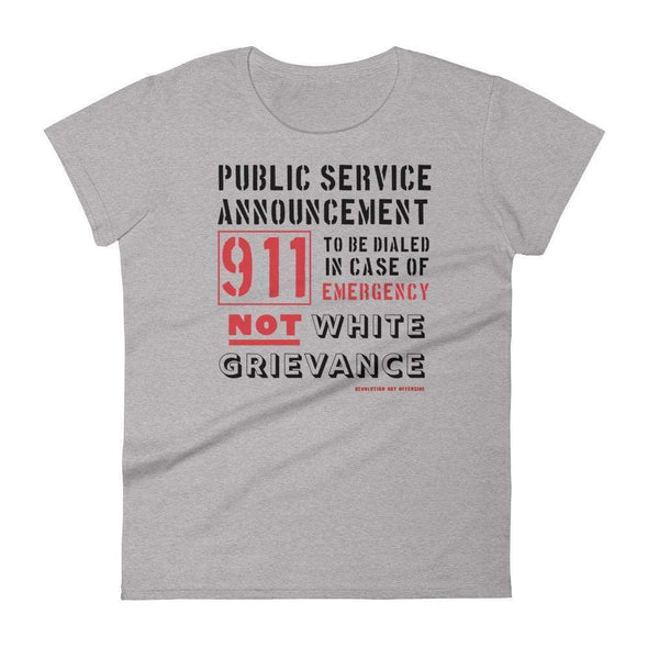 Revolution Art Shop Public Service Announcement Women's Classic Tee Women's Tee Heather Grey / S