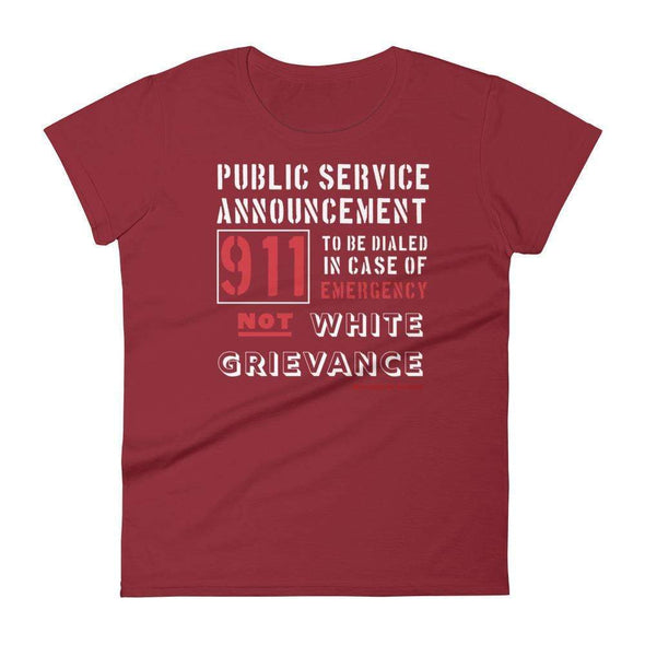 Revolution Art Shop Public Service Announcement Women's Classic Tee Women's Tee Independence Red / S
