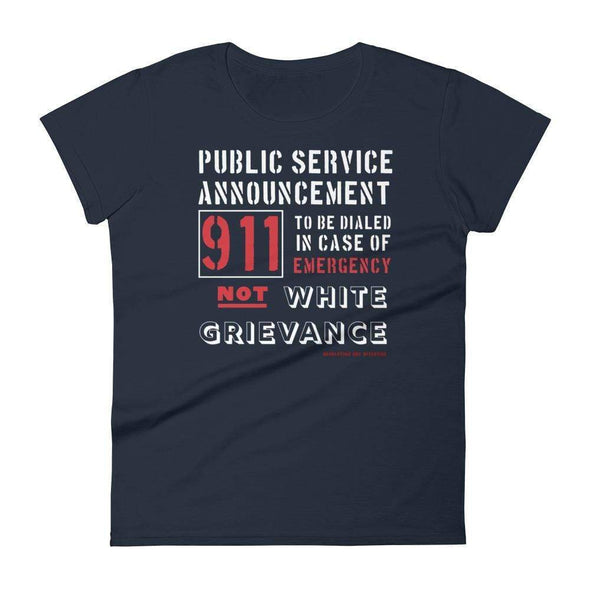 Revolution Art Shop Public Service Announcement Women's Classic Tee Women's Tee Navy / S