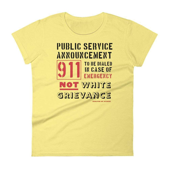Revolution Art Shop Public Service Announcement Women's Classic Tee Women's Tee Spring Yellow / S