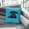 Nicole Bizzarro Retro Banana Phone Throw Pillow Throw Pillow